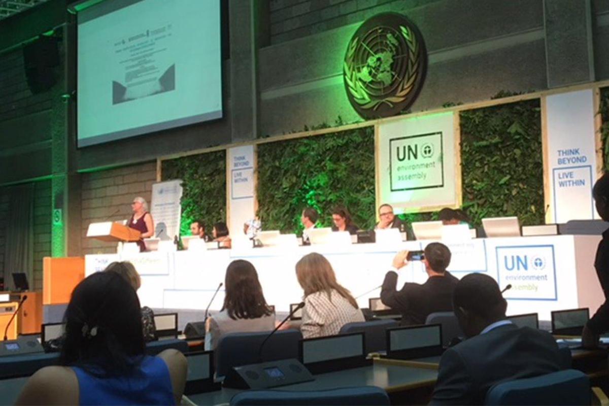 Smart Textiles given aktör på FN:s miljökonferens