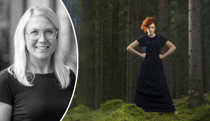 Anna Berglund, kkordinator för Skogens tyg på Smart Textiles