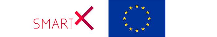 Logotypes: SmartX and EU-flag